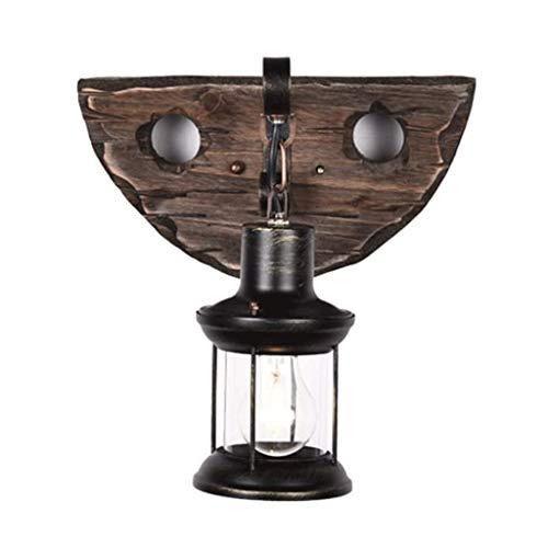 NXYJDe una Sola Cabeza Industrial Retro del Metal de Madera Pared de la Pintura de la lámpara for la Decorar la Pared de luz Home Hotel Corredor