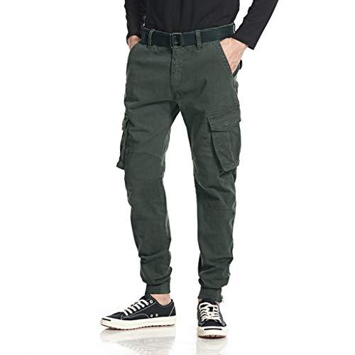 FRAUIT Pantaloni Cargo Uomo Slim Fit Polsini Pantaloni Uomini Tasche Laterali Invernali Pantalone Ragazzo Casual Plus Size Oversize Pantaloni Taglie Forti Eleganti Pantaloni da Lavoro