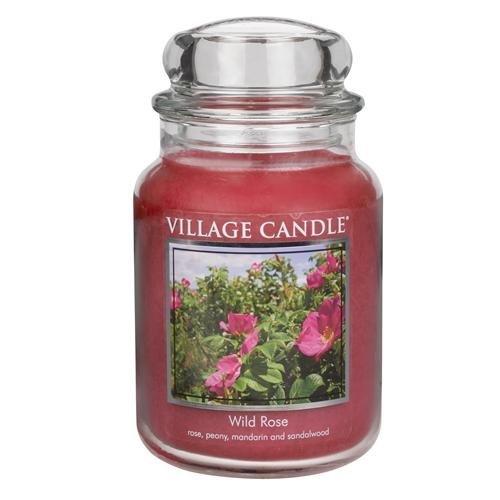 Village Candle Grande Bougie parfumée Rose Sauvage Jusqu'à 170 Heures de Combustion 17 x 10 cm 1219 g