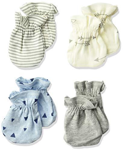 Gerber Baby Boys' 4-Pair Mittens, explore, 0-3 Months
