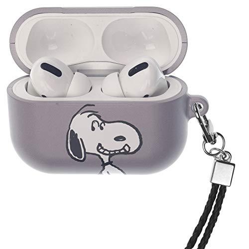 Peanuts Snoopy ピーナッツ スヌーピー AirPods Pro と互換性があります ケース ネックストラッ エアーポッズ プロ 用 ケース 硬い スリム ハード カバー (面 スヌーピー) [並行輸入品]