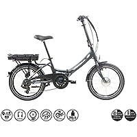 "F.lli Schiano E-Star Bicicleta eléctrica, Adultos Unisex, Antracita, 20"""