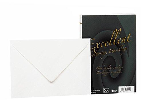 Rössler 20211930 - Excellent - Briefhüllen C6, gefüttert, 25 Stück, weiß