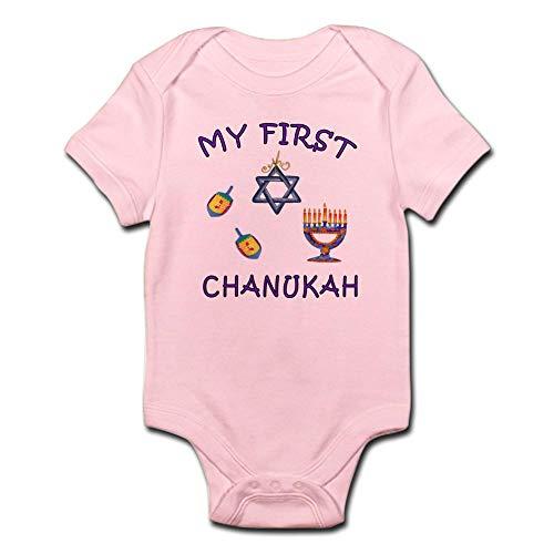 CafePress My First Hanukkah Infant Bodysuit Cute Infant Bodysuit Baby Romper Petal Pink