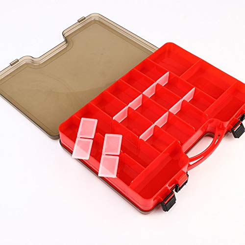 Plastic fishing tackle storage box, Double Sided Waterproof Visible Plastic Fishing Lure Bait Hooks Fishing Tackle Accessory Storage Box