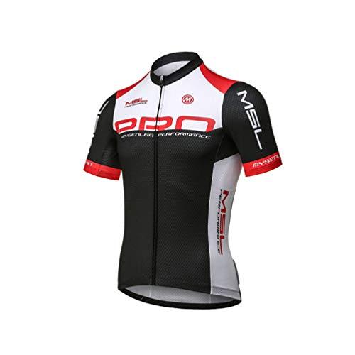 Mysenlan Maillot de Ciclismo Hombre Camiseta Manga Corta Jersey Ropa para Bicicleta Verano MTB Camisa