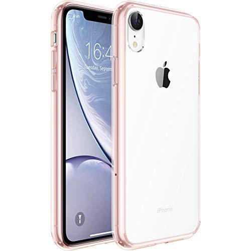 "UNBREAKcable Funda para iPhone XR, [Anti-Choques y Antiamarilleo] Carcasa Protectora Antigolpes con Parachoques de TPU Flexible Compatible para Apple iPhone XR 6,1"" - Rosa Cristalina"