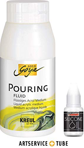 C. Kreul Solo Goya I Artservice-Tube I Pouring Fluid Medium Silikonöl Acrylmalerei I 750ml & 20ml