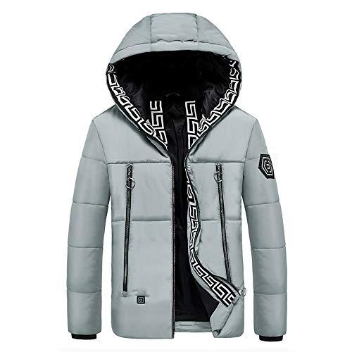 Mannen capuchonjas elektrische verwarming wasbaar verwarmd vest mannen en vrouwen USB licht elektrisch verwarmd kleding winter-onderhoud warm en winddicht