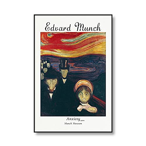 La famosa pintura de Edward Munch The Kiss IV, carteles e impresiones artísticos, arte de pared, pinturas en lienzo sin marco A4 50x75cm
