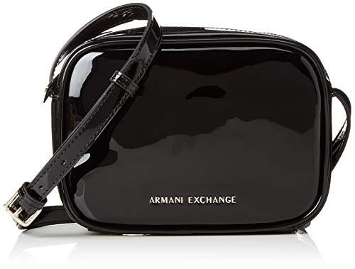 Armani Exchange - Small Crossbody Bag, Bolsos bandolera Mujer, Negro (Black), 14x7.5x19...