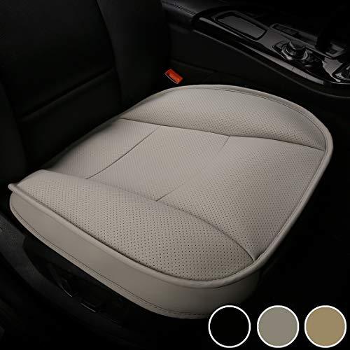 LUOLLOVE Coprisedile Universale Auto Anteriori Super Soft Confortevole Traspirante PU Protezione per Sedile Auto (1 Pezzo Grigio)
