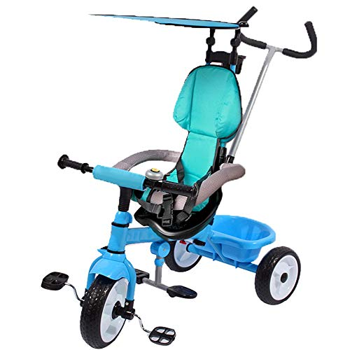 Lowest Prices! YUMEIGE Kids' Tricycles Kids Tricycle with Awning 1-6 Years Old Birthday Gift Kids St...