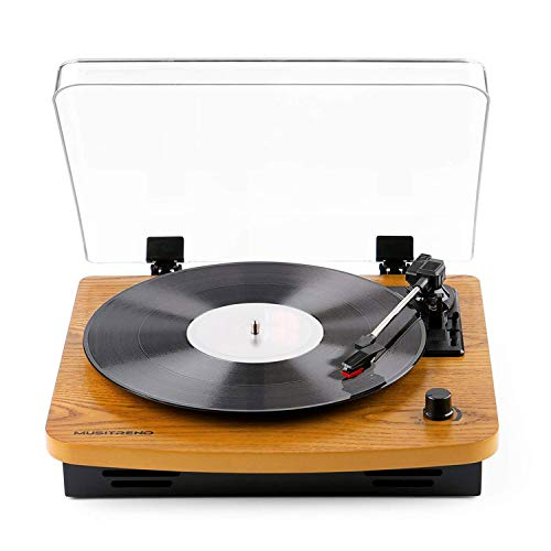 DJ Turntable, MUSITREND LP 3-Speed Record Player with Built-in Stereo...