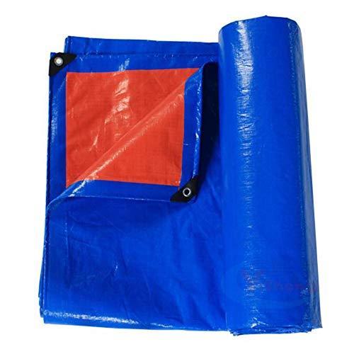 ZEMIN Bâche Protection Couverture Transparente Crème Solaire Imperméable Drap Tente Toit Coupe-Vent Pliable Polyester, Bleu, 180G/M², 20 Tailles Disponibles (Color : Blue, Size : 5X7M)