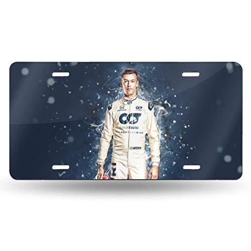 "SUNBO Car Racing Formula 1 Daniil Kvyat License Plate 6"" X 12"" for Bikes,Cars,Trucks"
