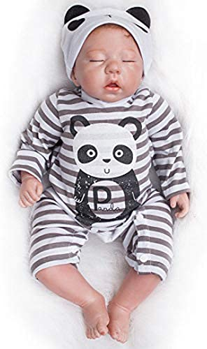 Hongge Reborn Baby Doll, 20  Reborn Babys Lebensechte Weißhe Vinyl Silikon Puppe Spielzeug Kinder Geburtstagsgeschenke pÃlege Puppen