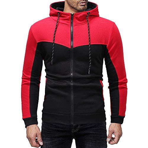 RYTEJFES Herren Freizeit Trainingsanzug Männer Herbst Winter Verdicken Sweatjacke Sportbekleidung Jogging Fitnessanzug Boxing Sweatshirt +...