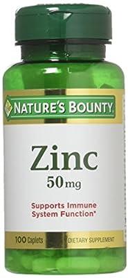 Nature's Bounty Chelated Zinc (Zinc Gluconate) 50mg, 100 Caplets
