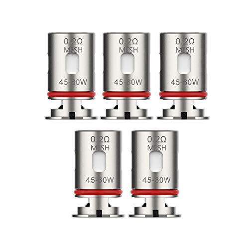 Vaporesso - Bobina GTX per sigaretta elettronica Target PM80, confezione da 5 [0,2 ohm MESH]