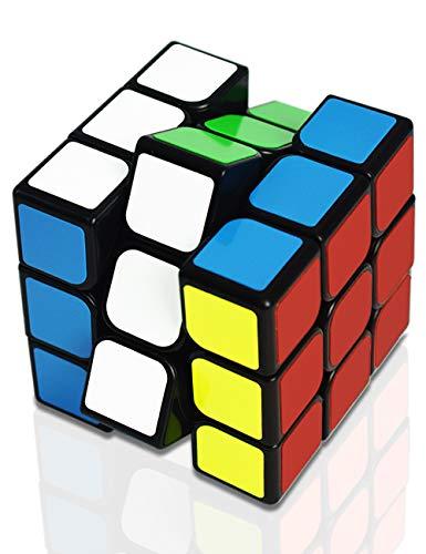 スピードキューブ 3x3x3 ルービックキューブ ステッカーレス 立体パズル 世界基準配色 回転スムーズ 競技用キューブ 6面完成攻略書付き MEILUNZ