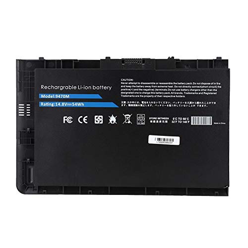 ASHATA notebook-accu, laptop-reserveaccu voor HP EliteBook Folio 9470 / 9470m Ultrabook Series 14.8V 54WH