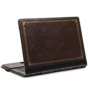 TYTX Compatible with MacBook Pro Leather Case 13 Inch 2016-2020  A1989 A1706 A1708 A2159 A2289 A2251 A2338  Protective BookBook Folio Cover  New MacBook Pro 13  Brown
