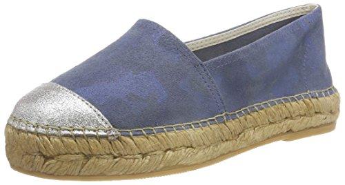 Macarena Damen ELIS128-AM Espadrilles, Blau (Jeans/Plata), 39 EU