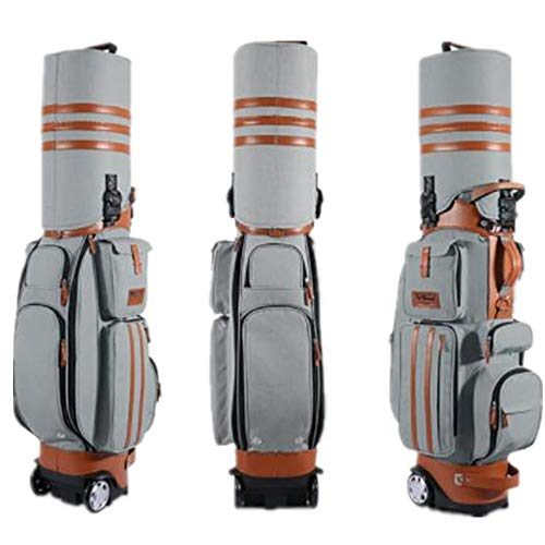 Best Bargain DERTHWER Golf Stand Bag Golf Air Bag Hard Shell with Tugboat with Password Golf Club Ba...
