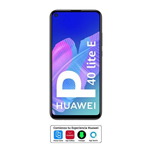"""HUAWEI P40 Lite E - Smartphone con pantalla FullView de 6,39"""" (Kirin 710, 4 GB + 64GB, Triple Cámara IA de 48MP, Batería de 4000 mAh), Color Negro"""