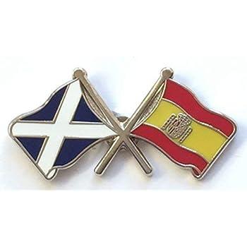 SCOTLAND LION RAMPANT//SALTIRE FRIENDSHIP Flag Metal Lapel Pin Badge
