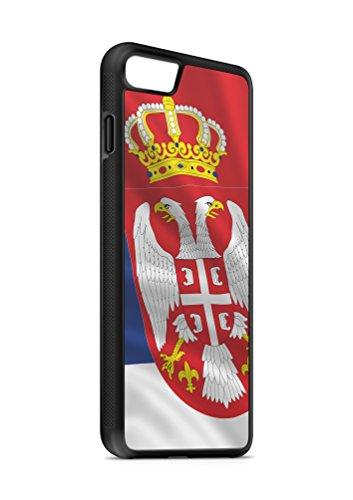 Kompatibel mit iPhone 8 Silikon Handyhülle Flexibles Slim Case Cover Serbien Fahne Flagge Schwarz