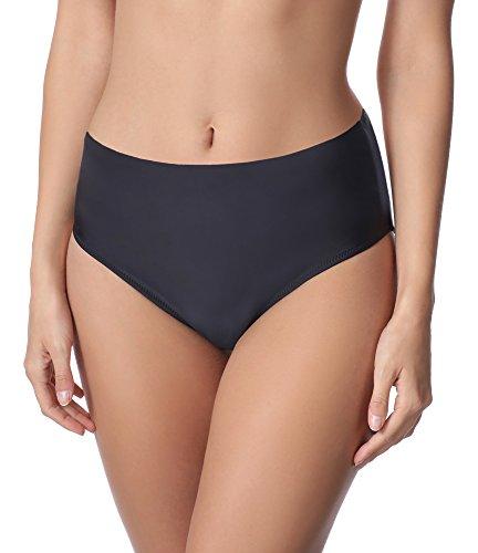 Merry Style Damen Bikini Unterteil M72W (Schwarz (9240), 44)