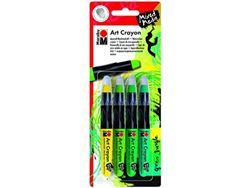 Marabu Green Jungle Mixed Media Art Crayon Set