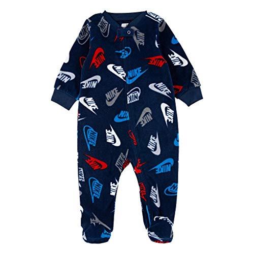 Nike Mono de microforro polar para bebé con cierre de cremallera (azul marino medianoche, 3M)