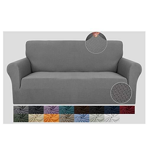 JIVINER - Fundas elásticas para sofá de 3 plazas, fundas de sofá de 1 pieza, fundas para sofá de 3 plazas, lavables, gruesas, con...
