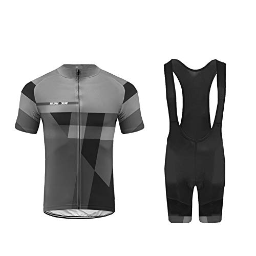 UGLY FROG Uglyfrog Designs Radtrikot Herren Fahrradbekleidung Set Outdoor Sports Kurzarm Fahrradbekleidung + Radfahren Latzhose Shorts im Sommer
