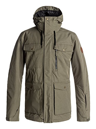 Quiksilver Snow Men's Raft Snow Jacket, Grape Leaf, XS
