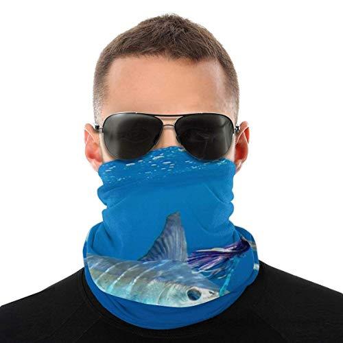 Mask Bandana Sea Striped Marlin Fish Men Women Neck Gaiters for Dust Wind Motorcycle scarf