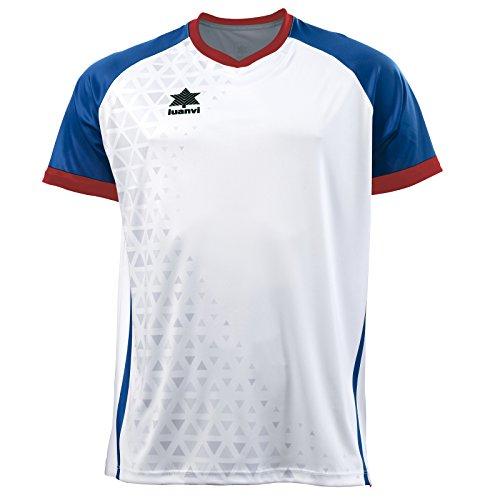 Luanvi Cardiff Camiseta, Hombre, Blanco y Azul, M