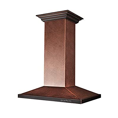 ZLINE 30 in. Designer Series Hand Hammered Copper Island Mount Range Hood (8GL2Hi-30)