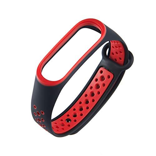 XIHAMA For Xiaomi Mi Band 3 ブレスレット 腕時計バンド 交換ベルトツートンカラー シリコン製 スポーツバ...