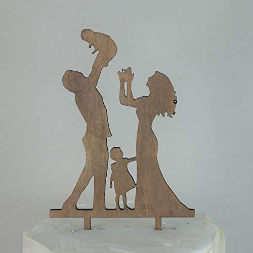 Adorno para pasteles silueta de madera