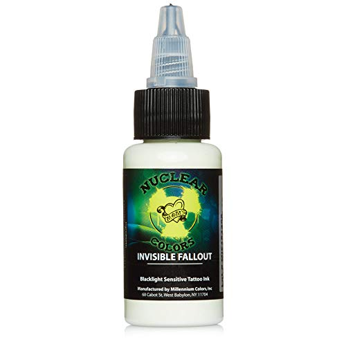 Moms Nuclear UV Tattoo Ink .5 ounce Invisible Fallout Ultra Violet US 1/2 oz