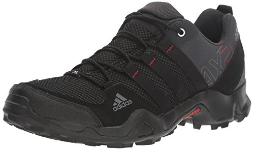 adidas outdoor Men's AX2 Hiking Shoe, Dark Shale/Black/Light Scarlet, 11 M US