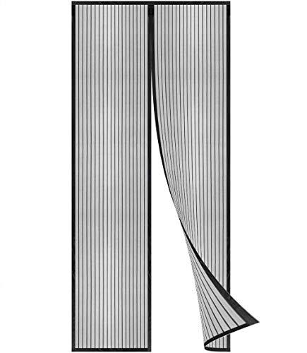 Flei Fliegengitter Balkontür 170x230cm, Insektenschutz Magnet Fliegenvorhang, Auto Schließen, magnetische Adsorption, for Türen/Patio - Schwarz