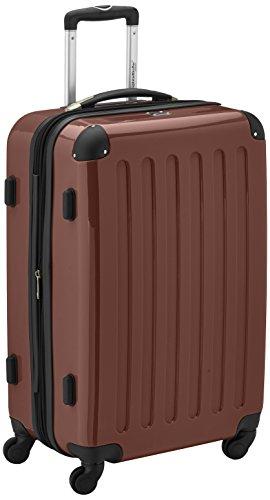 HAUPTSTADTKOFFER - Alex - Hartschalen-Koffer Koffer Trolley Rollkoffer Reisekoffer Erweiterbar, 4 Rollen, TSA, 65 cm, 74 Liter, Braun