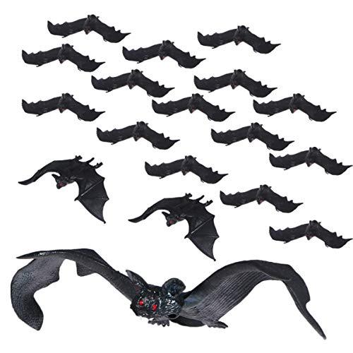 STOBOK Halloween Hängende Fledermäuse Realistische Gummi Fledermäuse Gruselige Hängende Fledermäuse für Halloween Gefälligkeiten Und Dekoration, 18 Stück