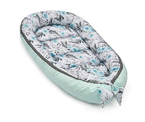 JUKKI® Babynest XXL Baumwolle 65x120 cm, Babynestchen für Neugeborene, Babycare Bettchen, Baby Nestchen Bett, Kuschelnest für Babybett, Babynestchen