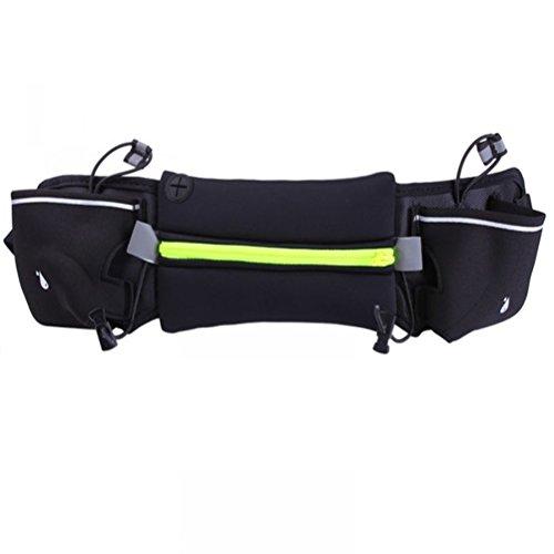 WINOMO sac de taille courroie de course Ceinture d'hydratation extérieur pour la marche fitness vélo marche hommes et femmes (vert)
